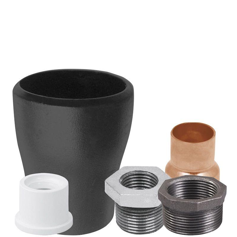 tipo de reducciones de pvc acero y cobre