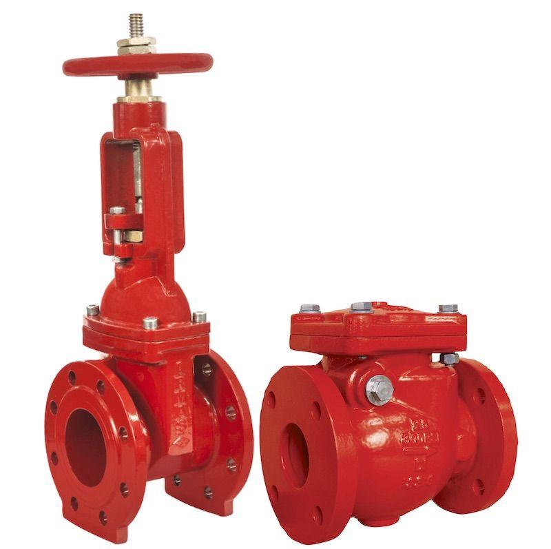 Valvulas de bolante y check contra incendio
