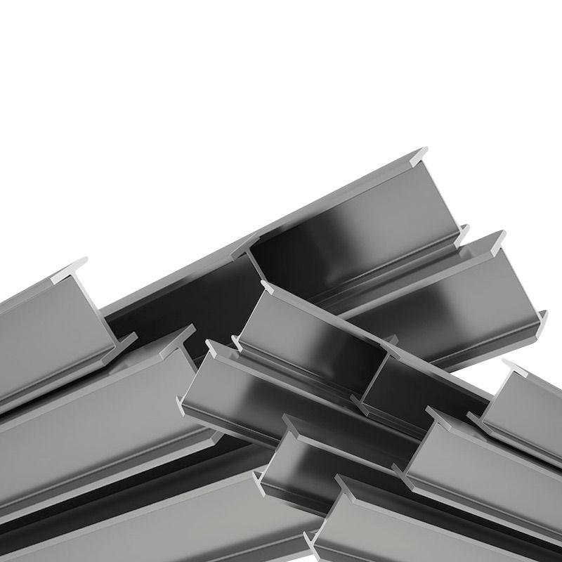 Conjunto de vigas de acero estructural