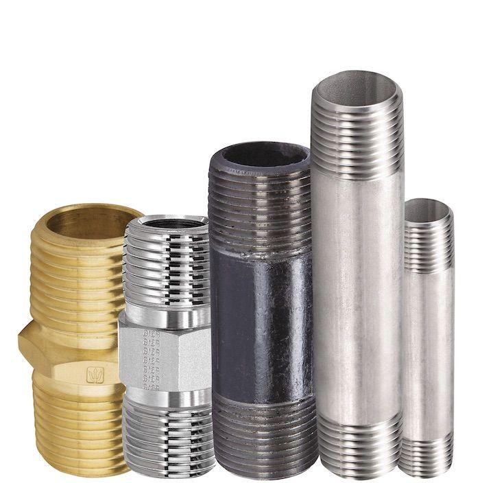 Niples roscados de cobre y acero galvanizado