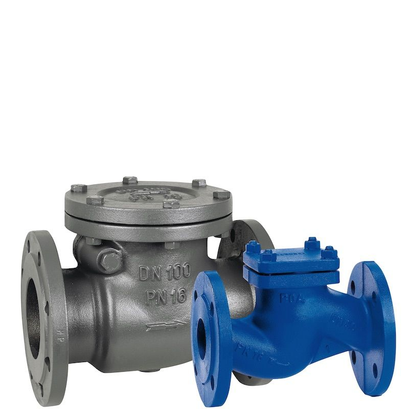 Válvulas de retención check de acero al carbon bridadas.